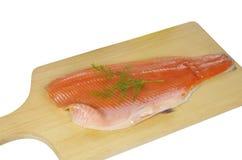 Cut salmon's fragment Royalty Free Stock Image