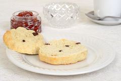 Cut scone shallow DOF Stock Photography