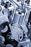 Cut section of auto engine Stock Images