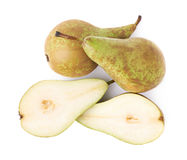 Cut and served green pear Stock Photo