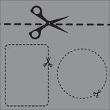 Cut shapes Stock Photo