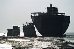 Cut Ship, Bangladesh Royalty Free Stock Image