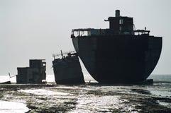 Cut Ship, Bangladesh royalty free stock image