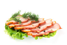 Bacon whit dill and pepper Royalty Free Stock Images