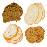 The cut slices of bread Stock Photo