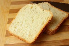 Cut slices of homemade bread Royalty Free Stock Photo