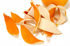 Cut slices of orange peel Royalty Free Stock Photography