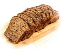 Cut slices of rye bread Royalty Free Stock Photography