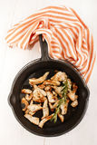 Cut into small pieces turkey breast with crushed black pepper an Royalty Free Stock Photo