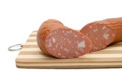 Cut smoked sausage Stock Images