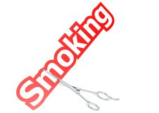 Cut smoking Stock Photography