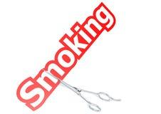 Cut smoking Stock Photography