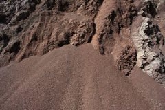 Cut of soil with different layers Stock Photo