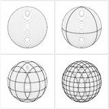 Cut Sphere From The Simple To The Complicated Vector Royalty Free Stock Image