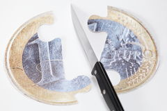 Cut and splitting Stock Photo