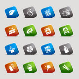 Cut Squares - Cleaning Icons Stock Image