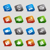 Cut Squares - Shopping icons Stock Images