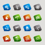 Cut Squares - Weather Icons Stock Photo