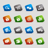Cut Squares - Website and Internet Icons Stock Photos