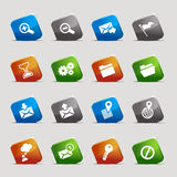 Cut Squares - Website and Internet Icons Royalty Free Stock Images