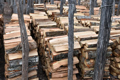 Cut Stacked Firewood Royalty Free Stock Images