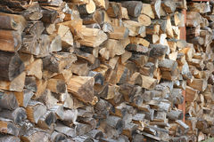 Cut Stacked Wood Background Royalty Free Stock Image