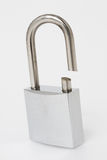 Cut stainless padlock Royalty Free Stock Image
