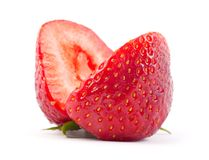 Cut strawberrie Royalty Free Stock Photography