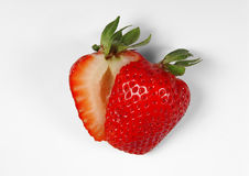 Cut Strawberry Stock Image
