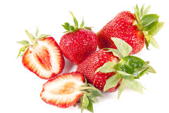 Cut strawberry Royalty Free Stock Images