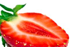 The cut strawberry Stock Images