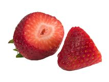 Cut strawberry Royalty Free Stock Photo