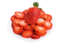 Cut strawberry Stock Photo