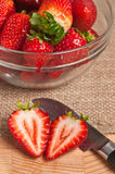 Cut Strawberry Royalty Free Stock Photography