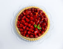 Cut Strawberry Cake Stock Photography