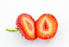 The cut strawberry Stock Image