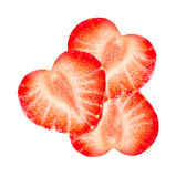Cut strawberry isolated Royalty Free Stock Photography