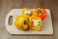 Cut sweet pepper Royalty Free Stock Photos