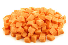 Cut sweet potato slices Royalty Free Stock Photo