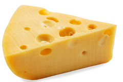Cut  Swiss cheese Royalty Free Stock Photos
