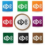 Cut Tax symbol,Colorful buttons Stock Photography