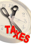 Cut Taxes. Slash taxes in time for recovery Royalty Free Stock Photo