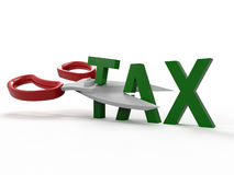 Cut taxes concept Stock Images