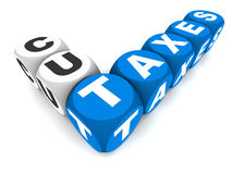 Cut taxes Royalty Free Stock Photos