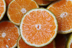 Cut-ted oranges. Close-up of cut-ted oranges Stock Image