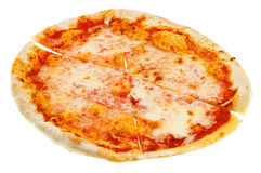 Cut thin italian pizza Margherita Royalty Free Stock Photos