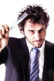 Cut throat businessman Stock Photos