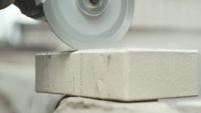 Cut tile stock video footage