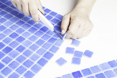 Cut tiles Royalty Free Stock Photos