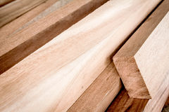 Cut timber or sawed timber prepare for the construction Royalty Free Stock Images